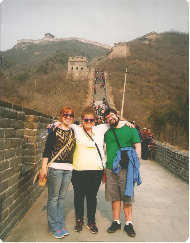 """With my other travel buddies. We were known as """"the three amigos""""."""