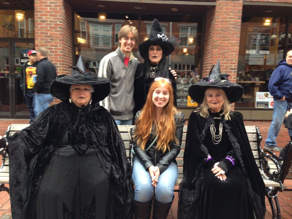 We hung out with some local witches. One of them was even planning on taking my hubby home!